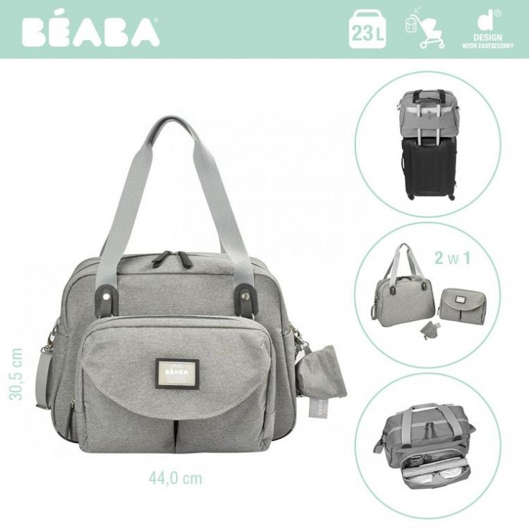 Beaba - Torba dla Mamy Geneva II Heather Grey
