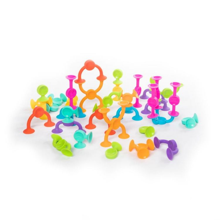 Fat Brain Toys - Klocki Przyssawki Squigz 2.0 36 Klocków