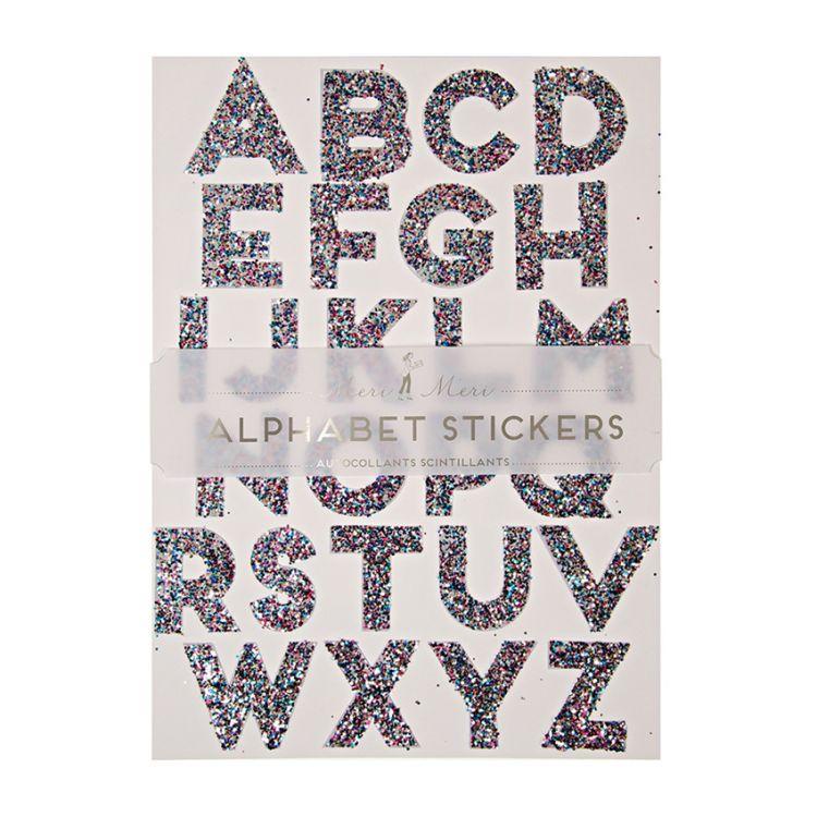 Meri Meri - Zestaw Naklejek All Wrapped Up Alphabet Multi Color 3+