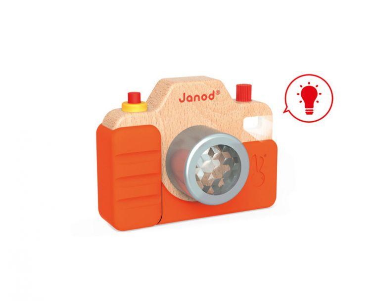 Janod - Drewniany Aparat Fotograficzny z Dźwiękami 18m+