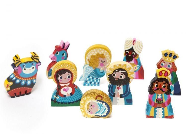 Petit Monkey - Zestaw Bożonarodzeniowy Klocki Figurki