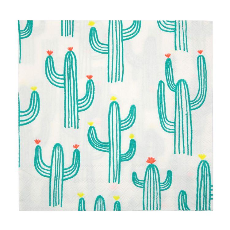 Meri Meri - Serwetki Urodzinowe Cactus