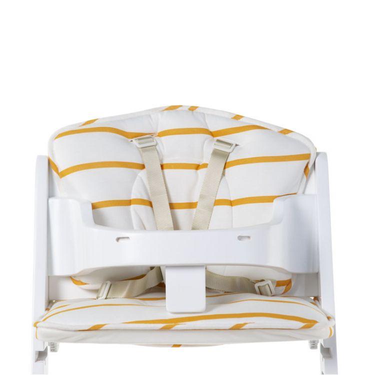 Childhome - Ochraniacz-Poduszka do Krzesełka Lambda Jersey Ochre Stripes