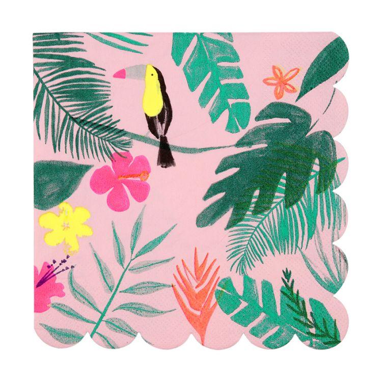 Meri Meri - Serwetki Urodzinowe Pink Tropical