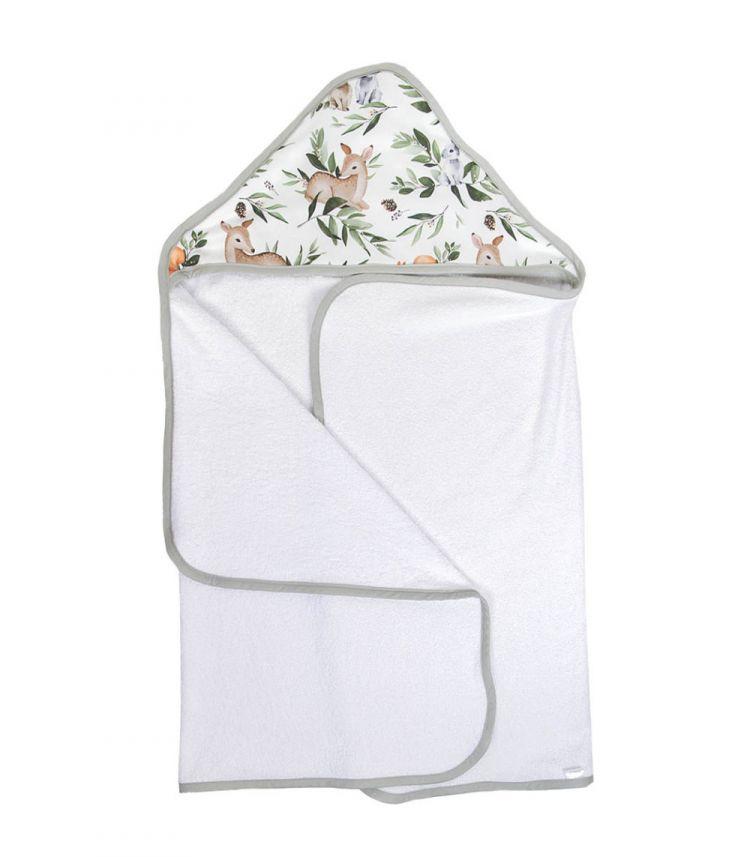 Muzpony - Duży Ręcznik Kąpielowy z Kapturem Leśne Zwierzątka