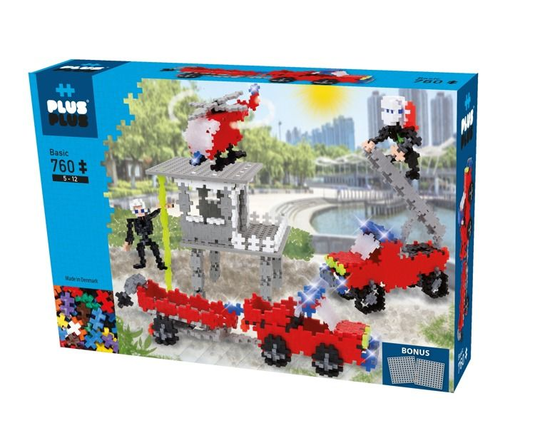 Plus Plus - Klocki Mini Basic 760szt Duża Straż Pożarna z Remizą 5+