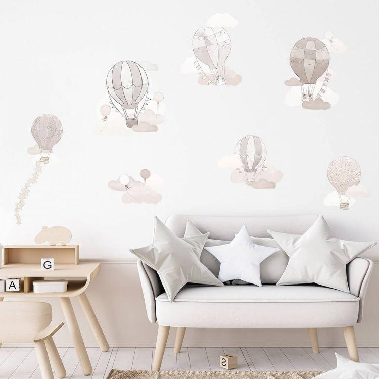 Pastelowelove - Naklejka na Ścianę Balony Beżowe