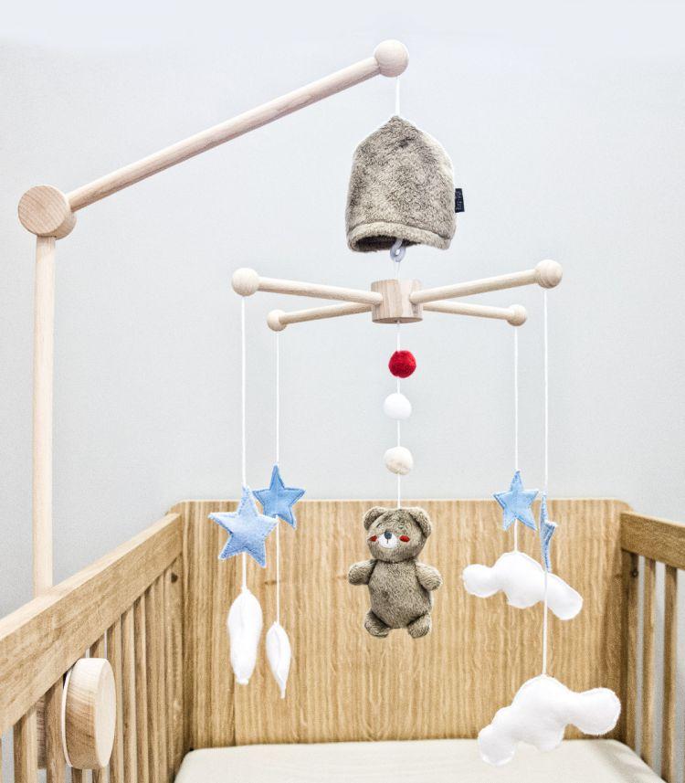 Muzpony - Karuzela do Łóżeczka z Obrotową Pozytywką My Teddy