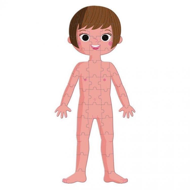 Janod - Puzzle Edukacyjne Gigantyczne Ciało Człowieka 50, 75 i 100 Elementów 5 +