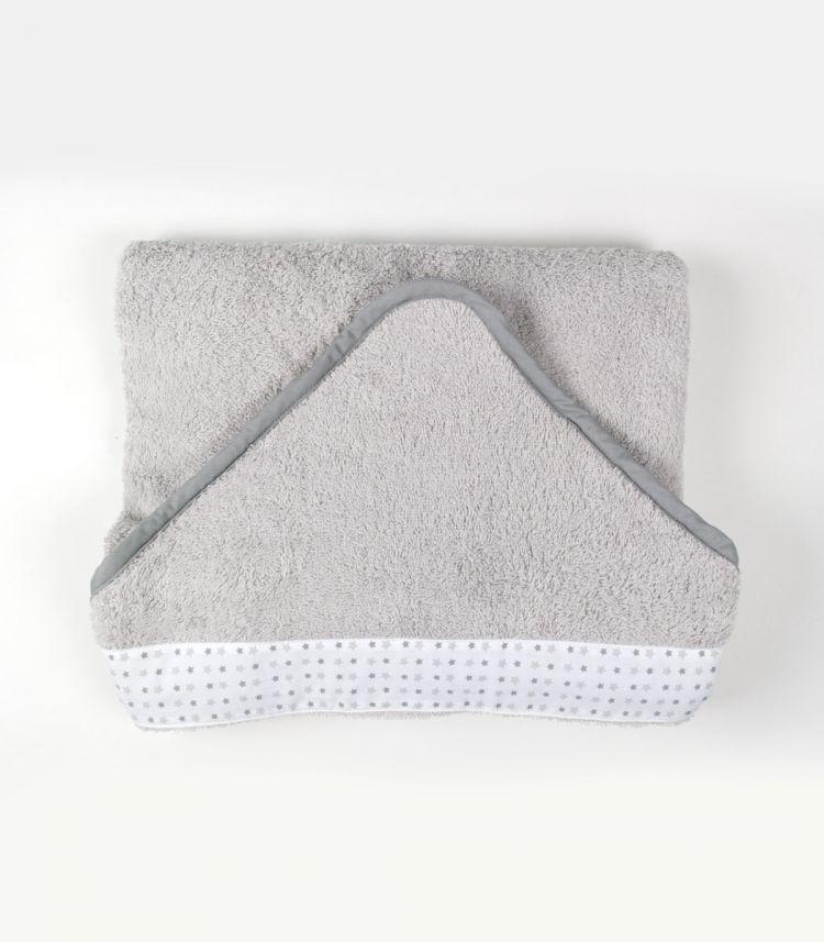 Muzpony - Duży Ręcznik Kąpielowy z Kapturem 140x70 Milky Grey