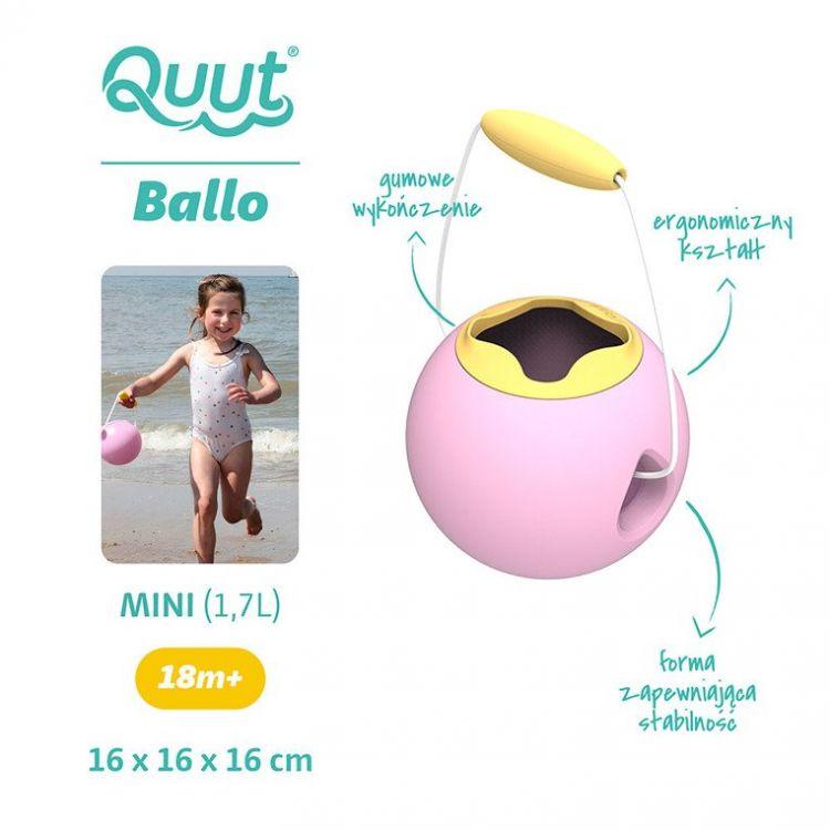 Quut - Mini Ballo Wiaderko Wielofunkcyjne Sweet Pink + Yellow Stone