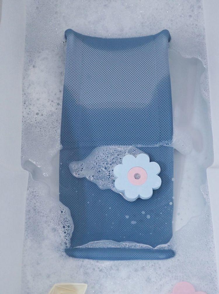 Beaba - Leżaczek Wkładka do Kąpieli dla Niemowląt Parma Grey