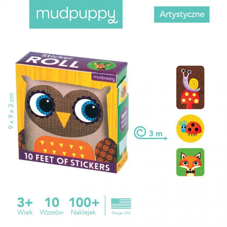 Mudpuppy - Naklejki na Rolce Leśne zwierzęta 100 szt.