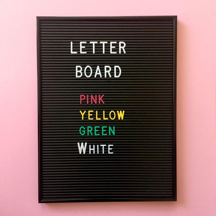 OMM Design - Literki do Tablicy Yellow 1,9 cm