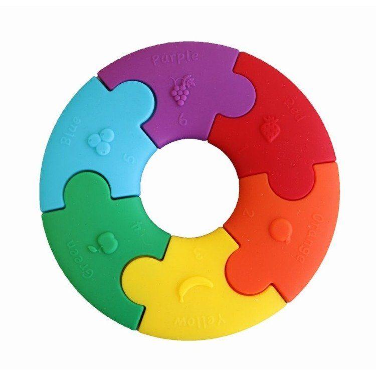 Jellystone - Pierwsze Puzzle Sensoryczne Tęczowe Kółko