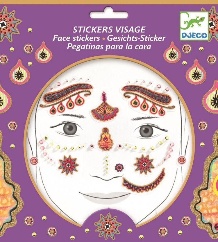 Djeco - Naklejki na Twarz Hinduska Księżniczka