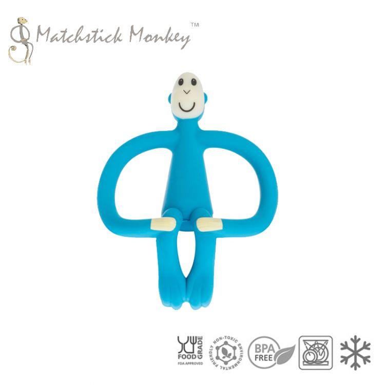 Matchstick Monkey - Gryzak Masujący ze Szczoteczką Blue