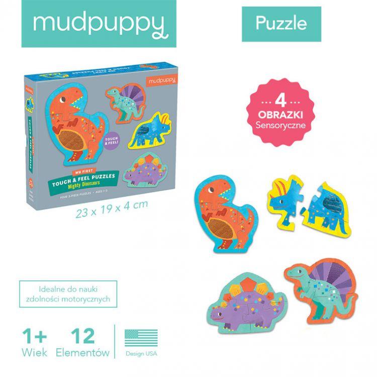 Mudpuppy - Sensoryczne Puzzle Potężne Dinozaury