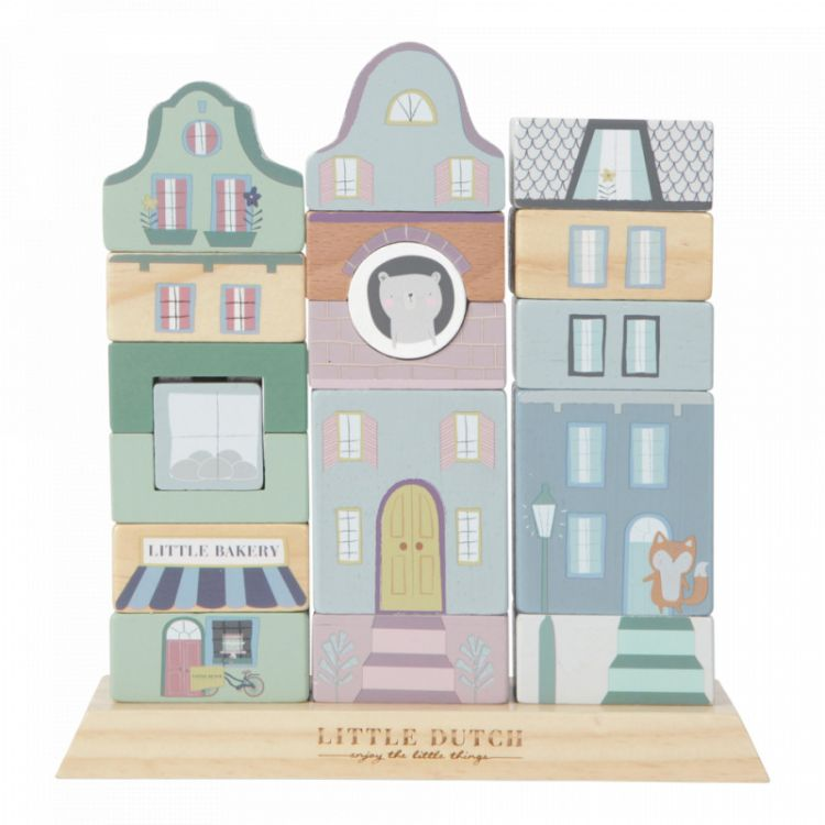 Little Dutch - Klocki Kamieniczka Mięta
