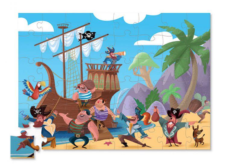 Crocodile Creek - Puzzle 48el. Piraci
