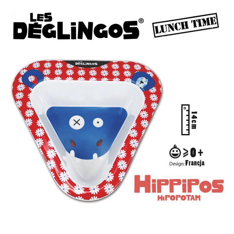 Les Deglingos - Miseczka z Melaminy Hipopotam Hippipios