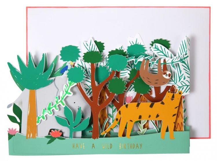 Meri Meri - Kartka Okolicznościowa 3D Dżungla