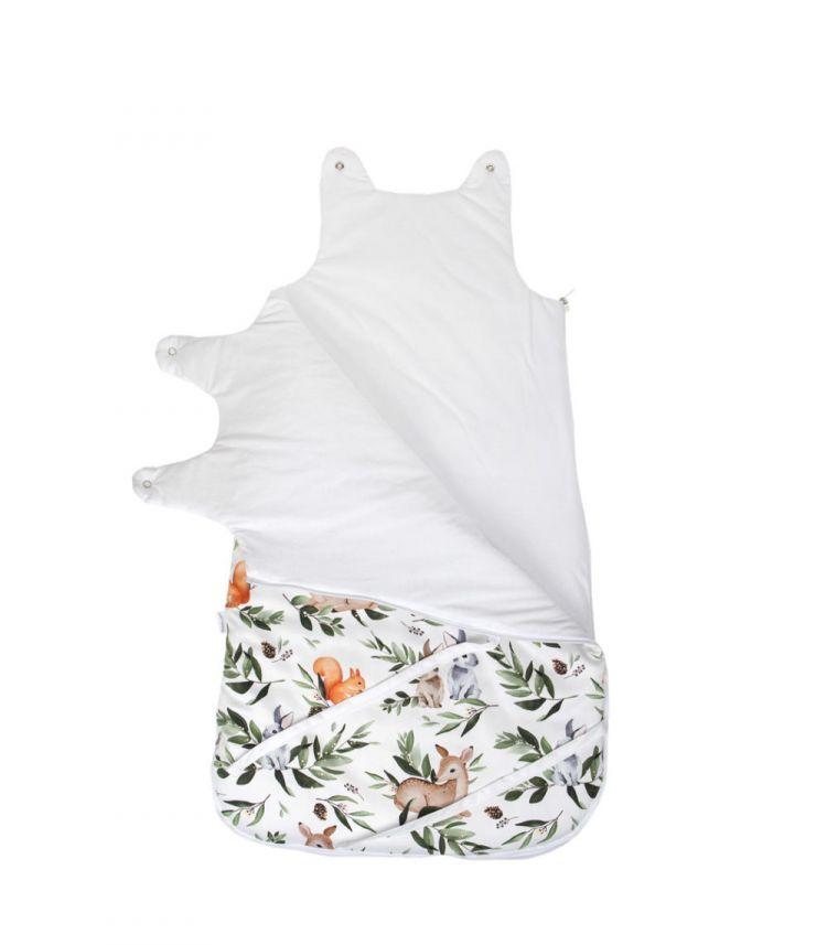 Muzpony - Śpiworek Niemowlęcy Leśne Zwierzątka Jesienno-Zimowy 80cm