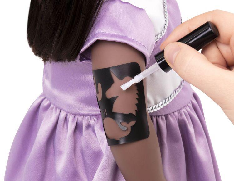OurGeneration - Lalka Rosalyn z Kompletem do Tworzenia Tatuaży 46cm 3+