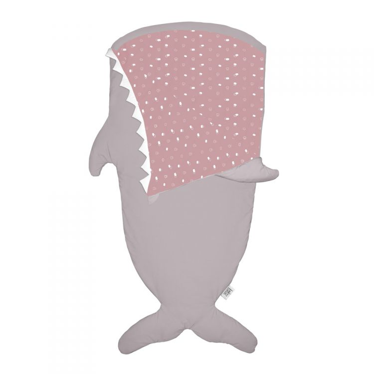 Baby Bites - Śpiworek Letni Shark Stone/Pink 2-6 lat