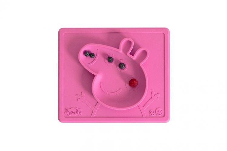 EZPZ - Silikonowa Miseczka z Podkładką 2w1 Peppa Pig™ Różowa
