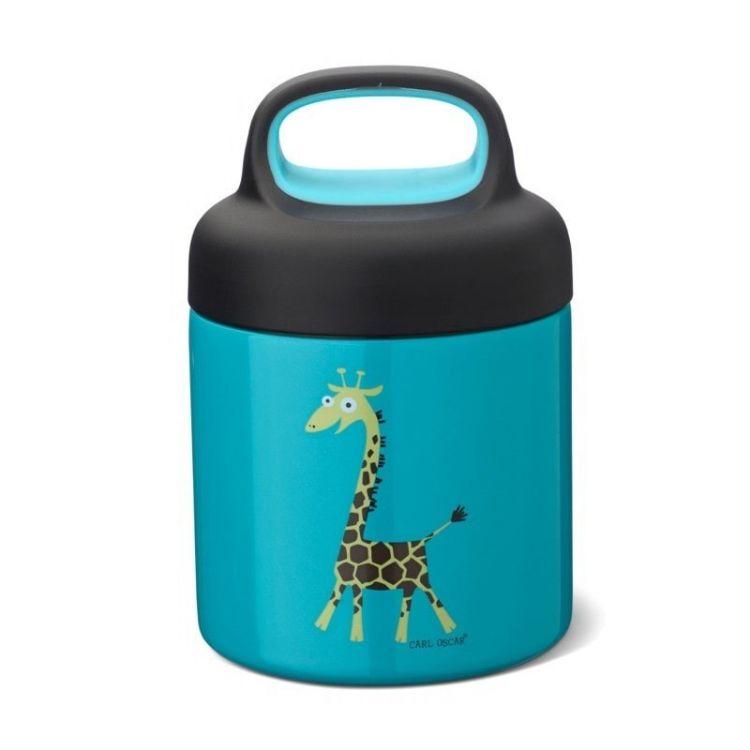 Carl Oscar -  Temp Lunch Jar Termos ze Szlachetnej Stali Nierdzewnej Turquoise Giraffe