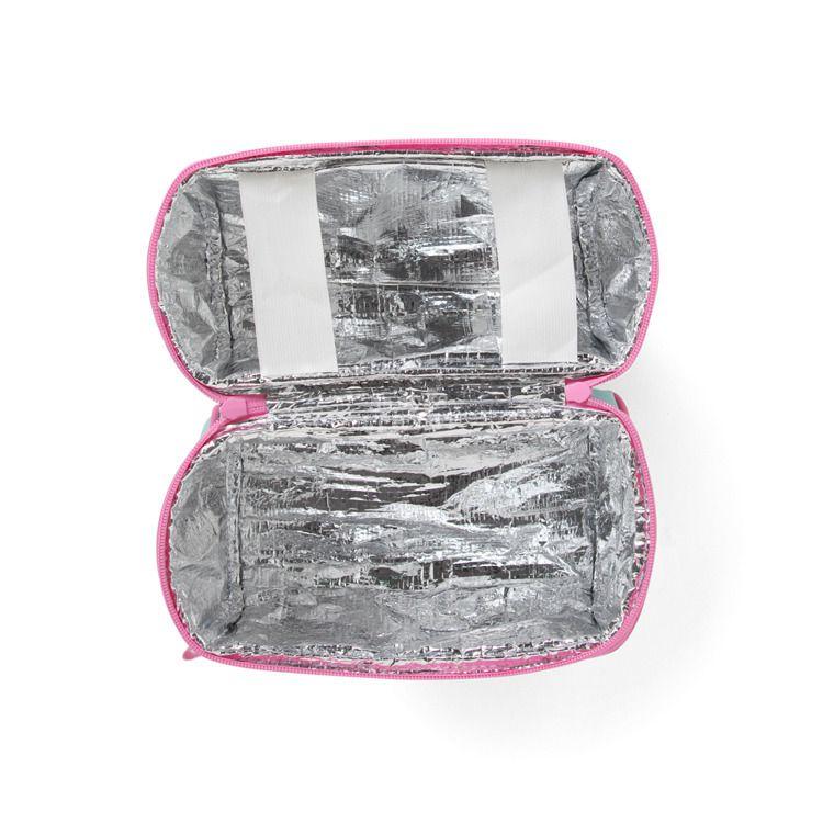 Penny Scallan - Lunchbox z Zamkiem na Środku Miętowo-różowy w Ananasy