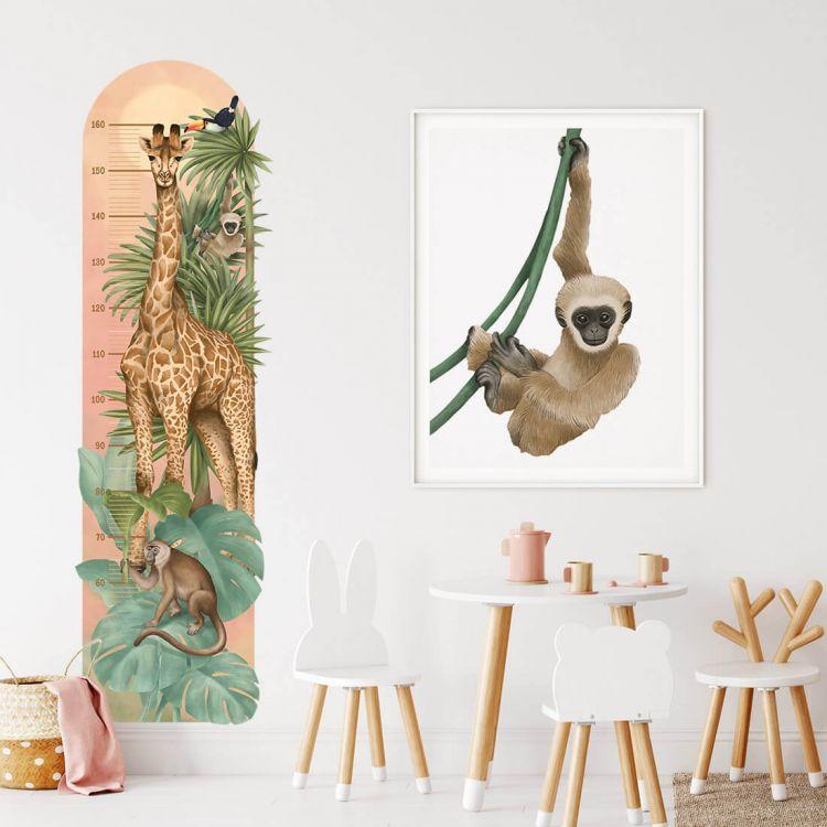 Pastelowelove - Naklejka Miarka Wzrostu Safari