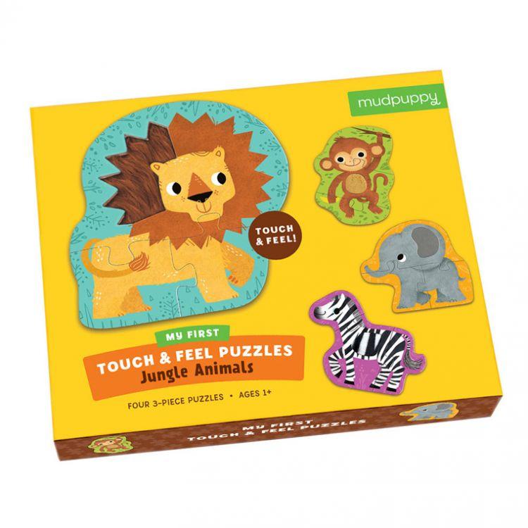 Mudpuppy - Sensoryczne Puzzle Zwierzęta Dżungli