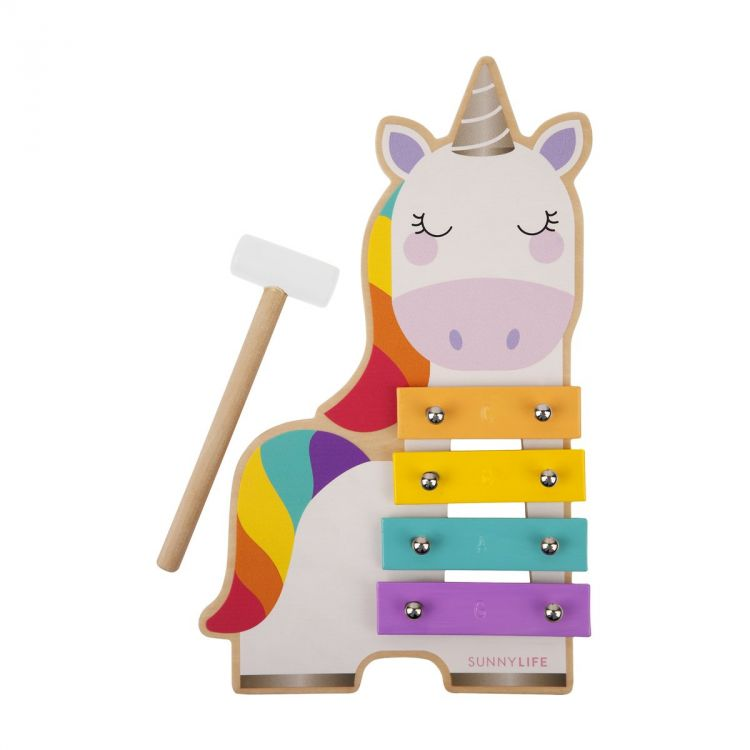 Sunnylife - Drewniany Ksylofon Unicorn