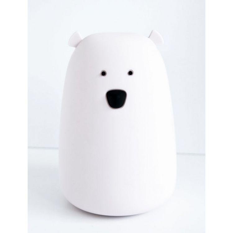 Rabbit&Friends - Lampka Miś Duży Biały Z Pilotem