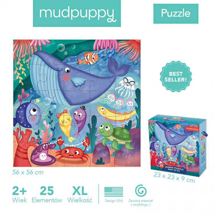 Mudpuppy - Puzzle Jumbo 25 Elementów Podwodny Świat