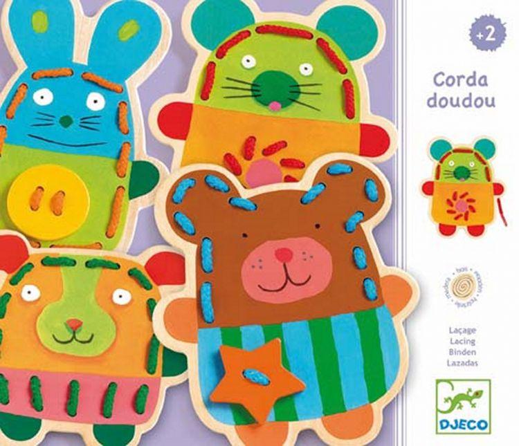 Djeco - Drewniane Zwierzaki do Przewlekania