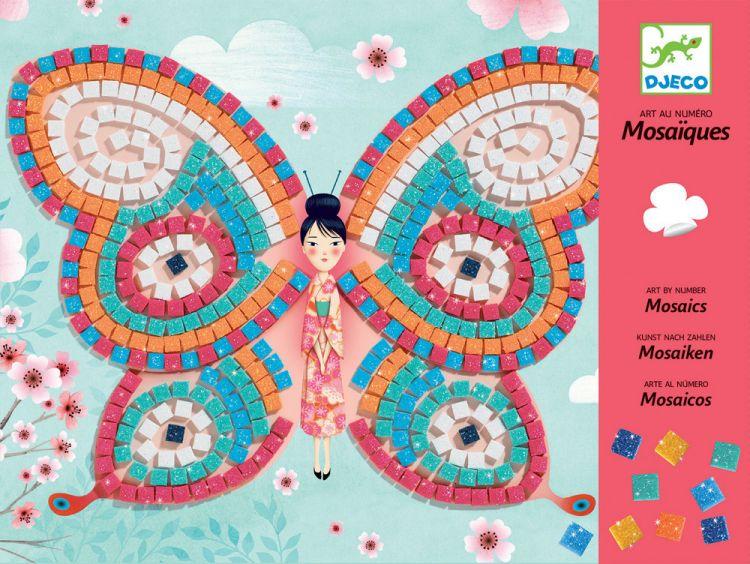 Djeco - Zestaw Mozaiek Motylki