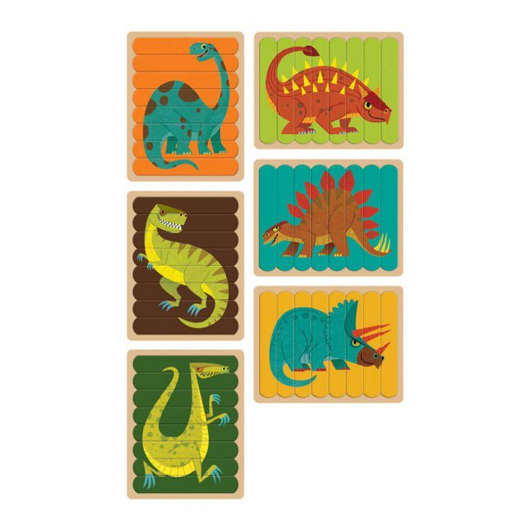 Mudpuppy - Puzzle Patyczki Potężne Dinozaury 24 el