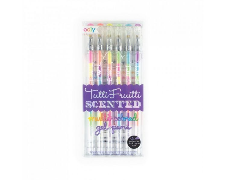 Ooly - Długopisy Żelowe Pachnące Wielokolorowe Tutti Fruitti 6szt 3+