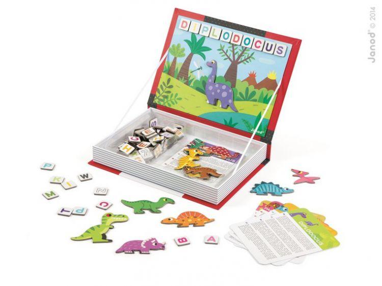 Janod - Magnetyczne Pudełko Dinozaury