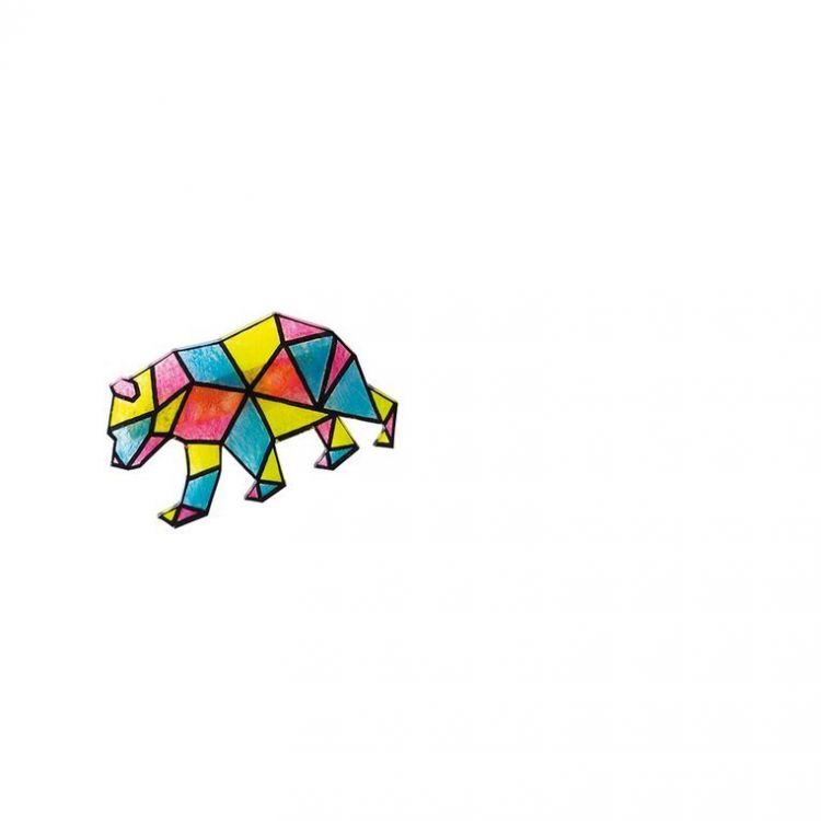 Janod - Zestaw Kreatywny do Tworzenia Biżuterii Kurczliwego Plastiku Geometrix 8+