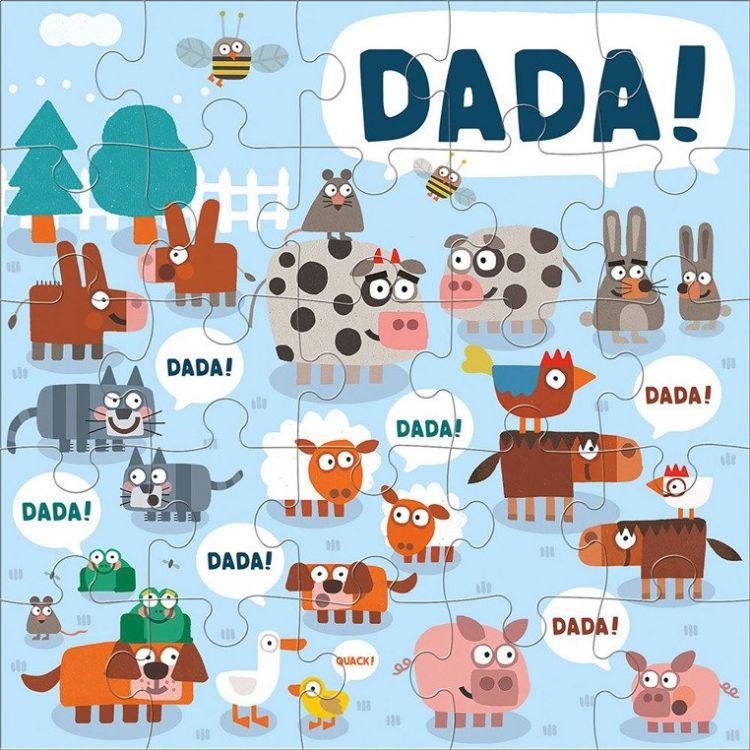 Mudpuppy - Puzzle Podłogowe Jumbo Dada 25 Elementów 2+