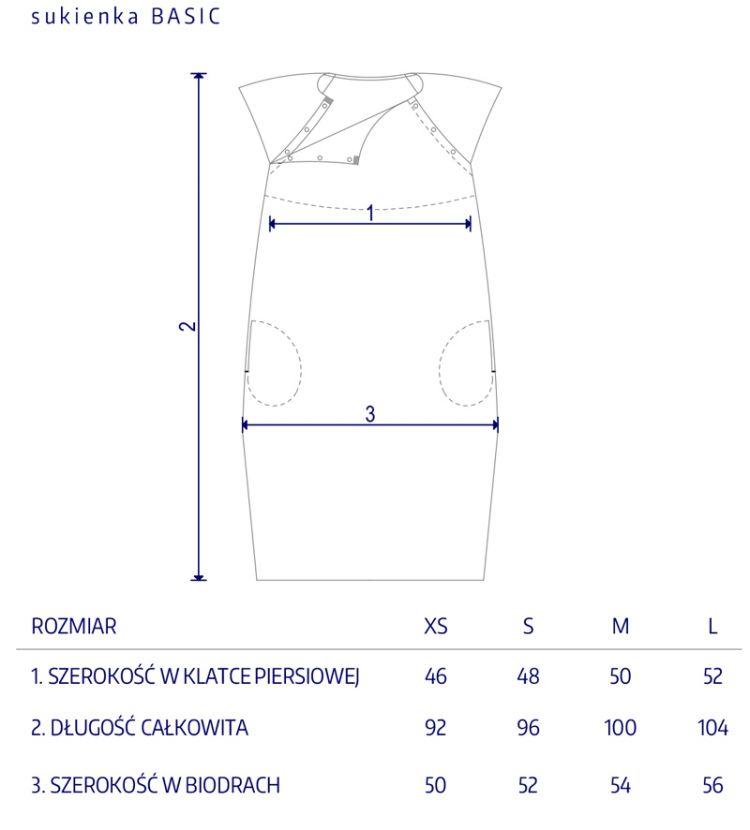Granatovo - Sukienka do Porodu Paskova Kotwice Long S/M/L