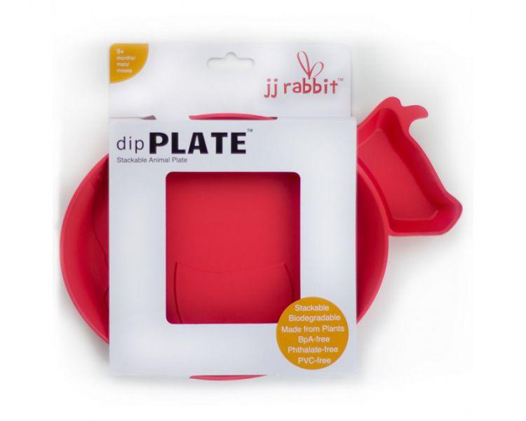 JJ Rabbit - ekoTalerzyk dipPlates Krówka Czerwona