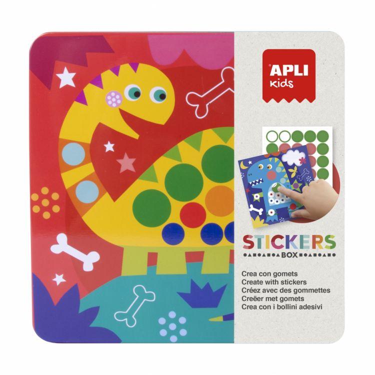 Apli Kids - Zestaw Kreatywny z Naklejkami Dinozaury 3+