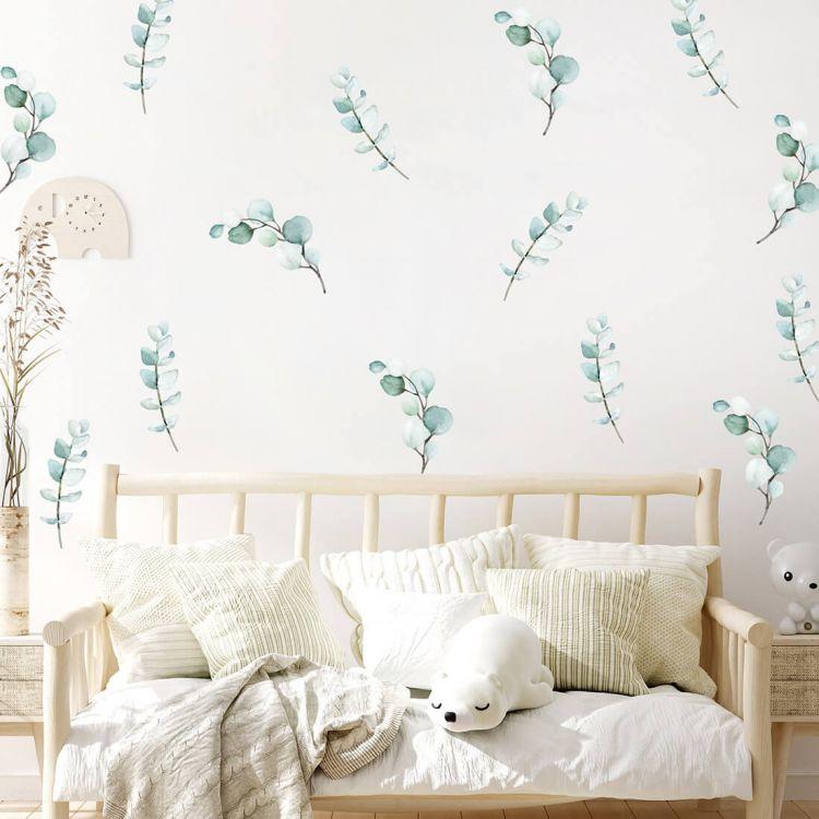 Pastelowelove - Naklejka na Ścianę Zielone Liście