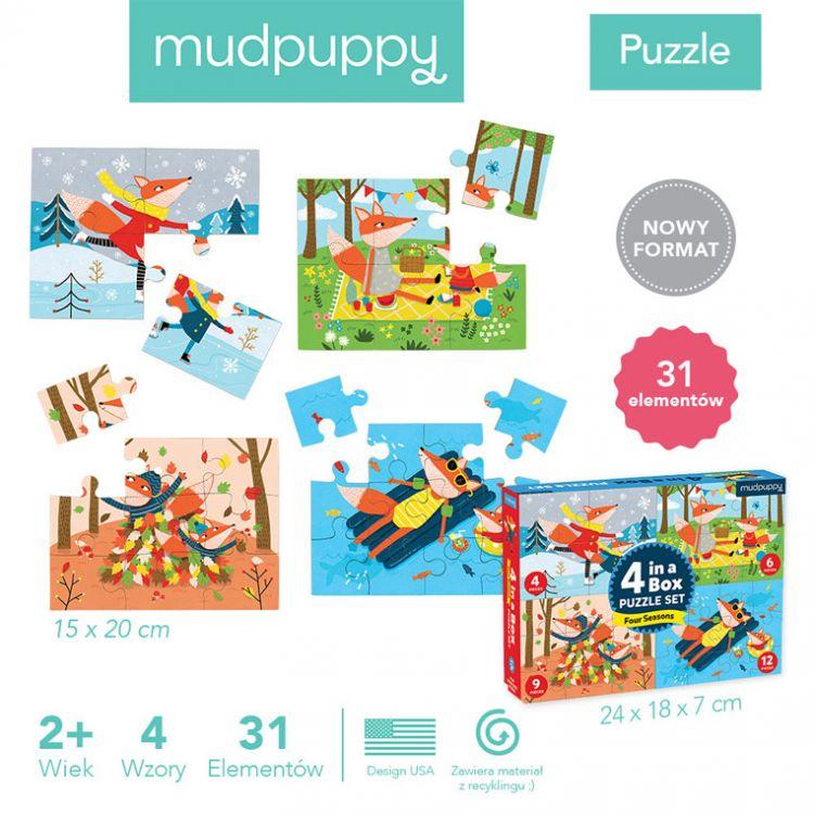 Mudpuppy - Puzzle 4w1 Pory Roku 4, 6, 9 i 12 Elementów