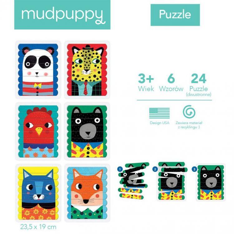 Mudpuppy - Puzzle Patyczki Zwierzęcy Przyjaciele 3+
